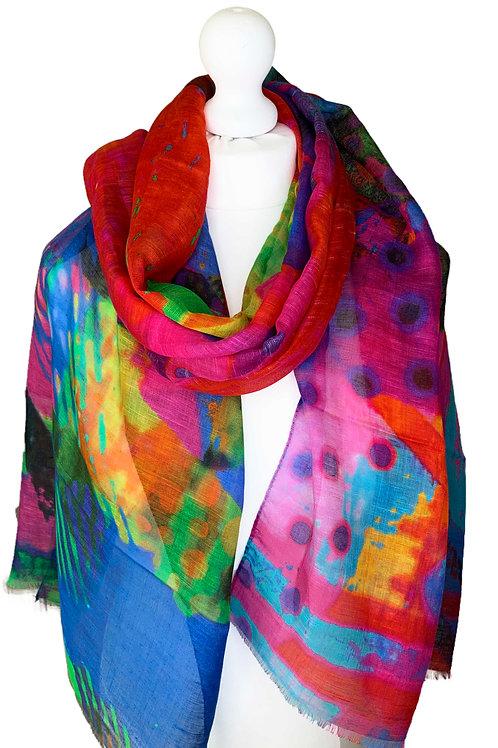 Linen/model/silk scarf 3