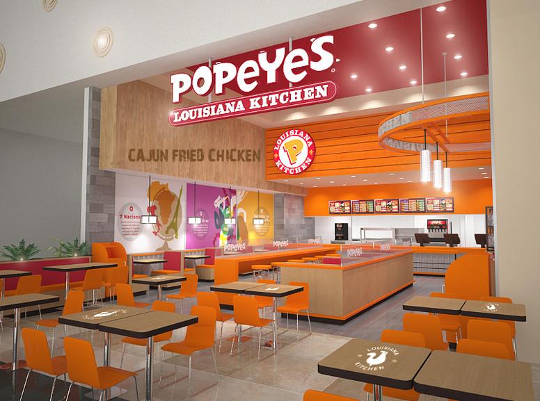 Restaurante / Popeyes / Mall Plaza Alameda