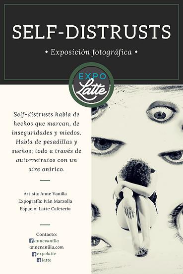Cartel de la exposición fotográfica en ExpoLatte en el Latte cafeteria