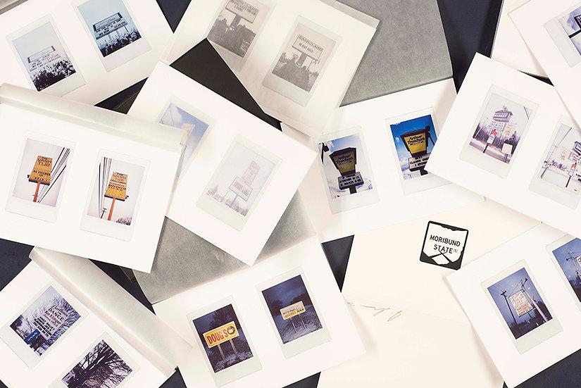 Set of limited edition Moribund Signs prints