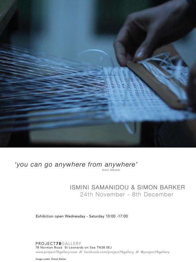'You can go anywhere from anywhere' Anni Albers - Ismini Samanidou & Simon Barker