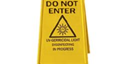 STERILASER™ Do Not Enter floor sign