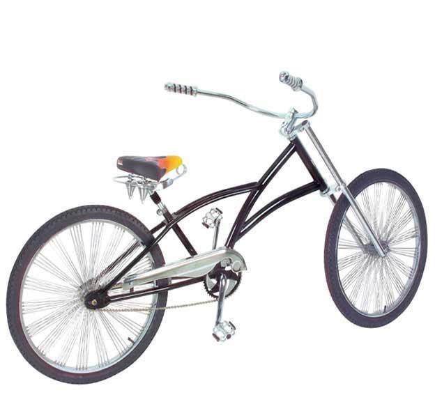 "26/"" Lowrider All White Bike Bicycle Frame Beach Cruiser Chopper"