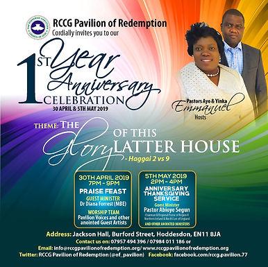 Church 1st Year anniversary