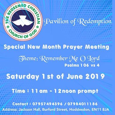 New Month Prayer Meeting