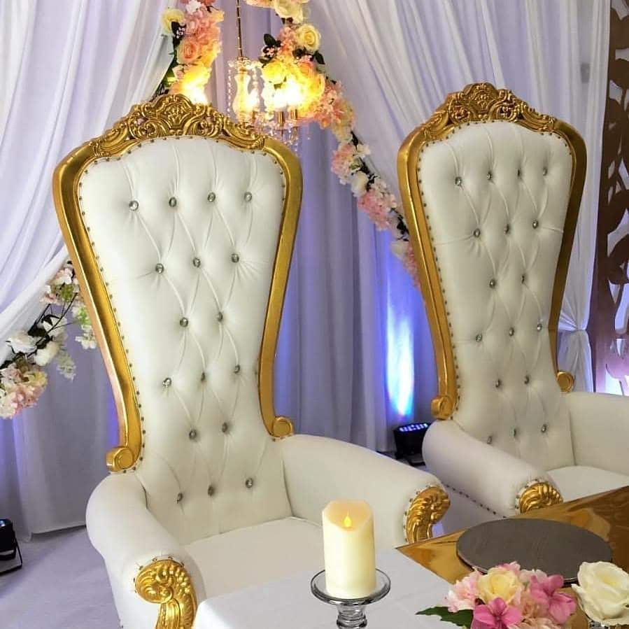 Imperial King & Queen Throne Chairs