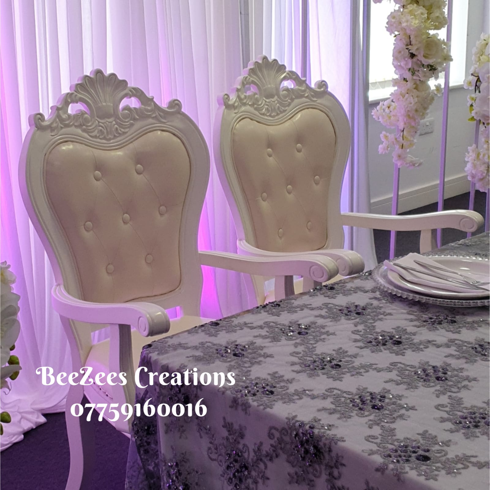 Anastasia Snow White Throne Chairs