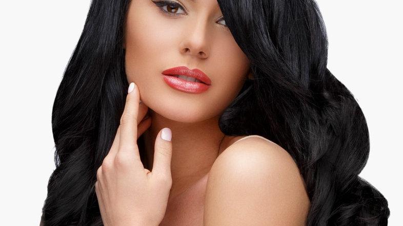 Body Wavy Human Hair Weft Extensions #1B