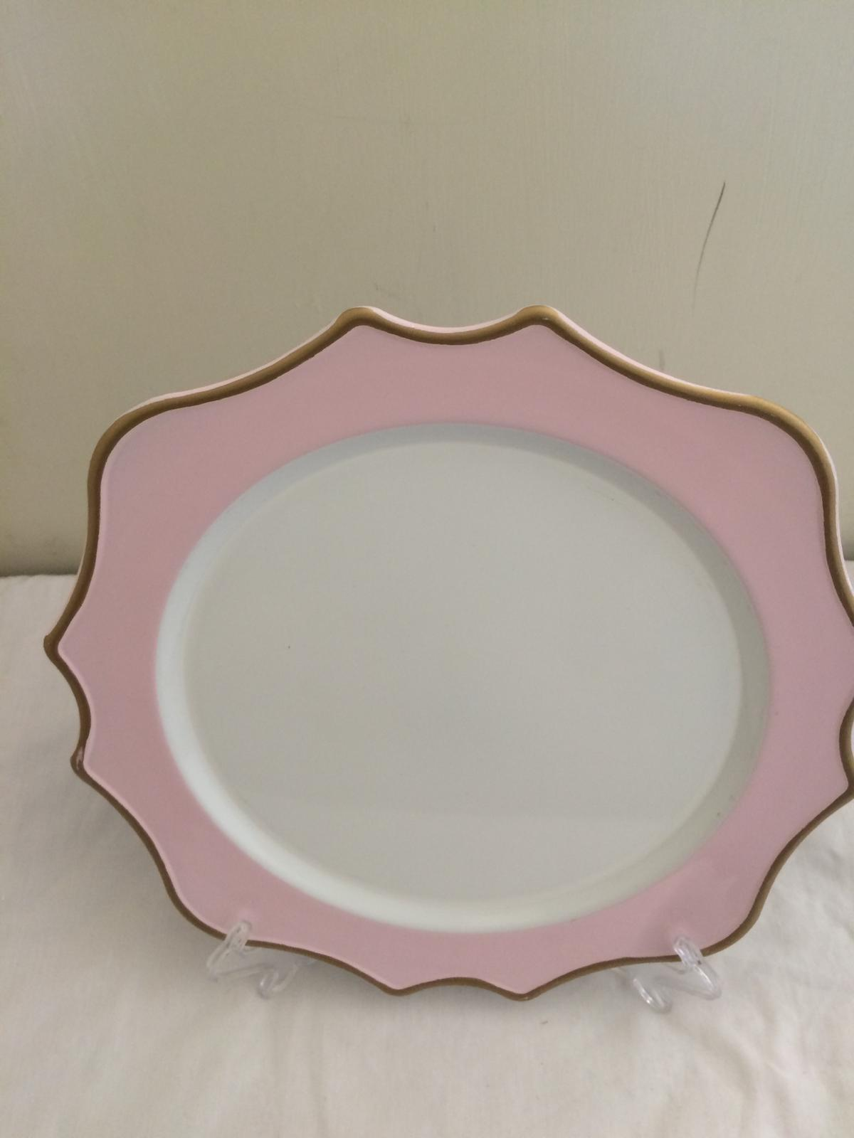 Baby Pink Charger Plates