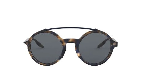 57a7215e4 Multicolour round frame sunglasses from Giorgio Armani featuring tinted  lenses, a logo decal on the lens, straight arms with curved tips, ...