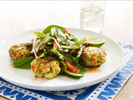 Recipe - Thai fish cakes with crunchy salad
