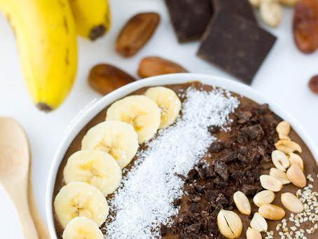 Recipe - Chocolate peanut butter smoothie bowl