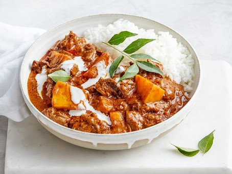 Recipe - Creamy coconut beef and pumpkin curry