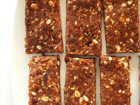 Recipe - 3 ingredient healthy peanut butter bars