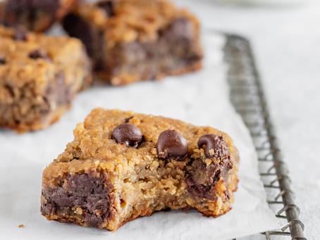 Recipe - Flourless chocolate chip chickpea blondie