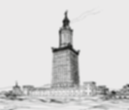 Lighthouse at Alexandria. Pharos. The ligthouse represents the Pharosity Consulting brand as a managed markets consulting leader.