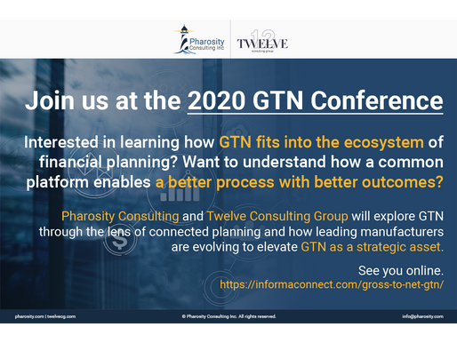 Pharosity Consulting and Twelve Consulting Group to present at the GTN 2020 conference