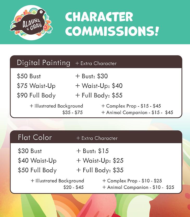 Alayna Gray Commission Sheet @alaynakgray