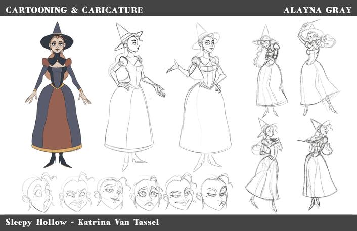 Cartooning & Caricature-KatrinaVanTassel