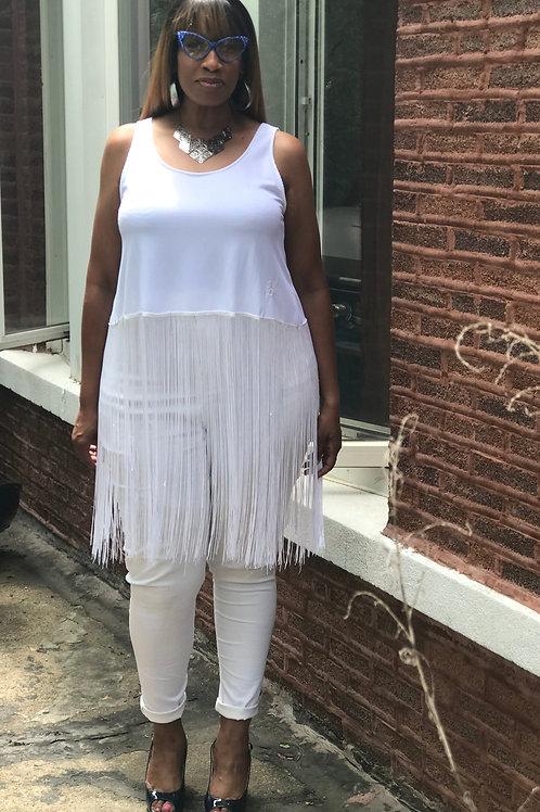Ebony Skinny White Jeans