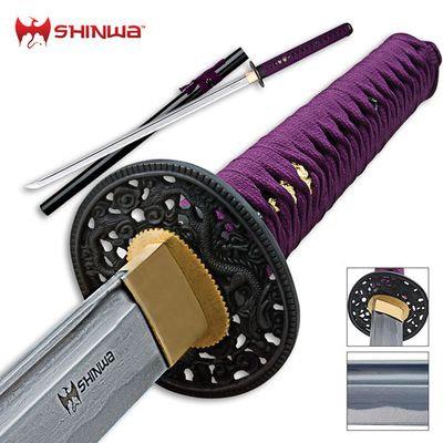 Shinwa Damascus Katana Purple