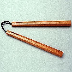 Traditional Octagon Nunchaku-Black or Natural