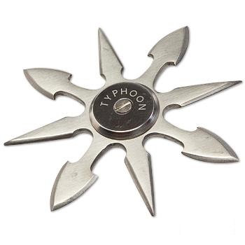 Typhoon 8 pt. Silver Ninja Star