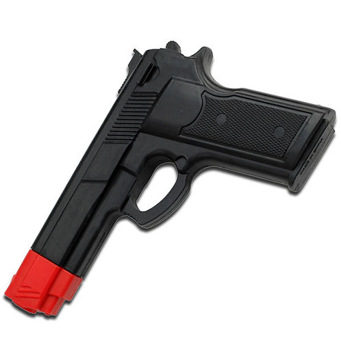 Rubber Training Gun (Black And Red Head Painting)