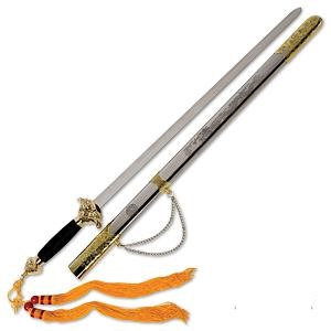 Lion Head Tai Chi Sword w/Stainless Steel Scabbard