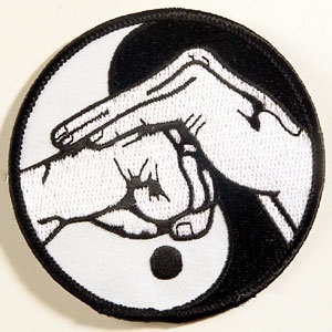 Yin & Yang with Hand Salute Patch