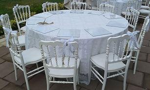 2 El Beyaz Napolyon Sandalye