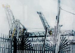 Zena Flax- Gantries at Dublin Docks.