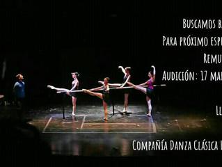 Audición buscamos bailarín y bailarina !!