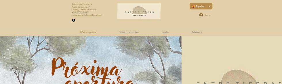 Diseño web Restaurante Entretierras