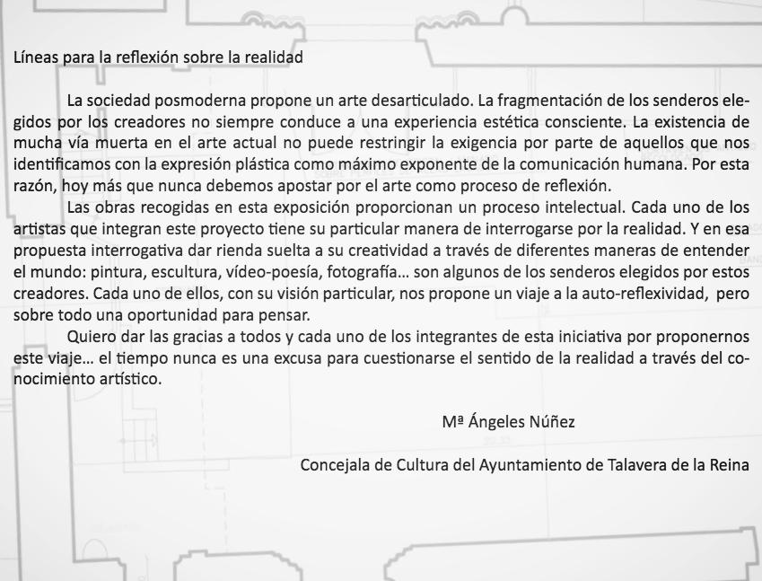 Prólogo de Mª Ángeles Núñez para expo Realidad