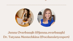 Instagram Live with Jenna Overbaugh from NOCD: The content of intrusive thoughts is irrelevant!