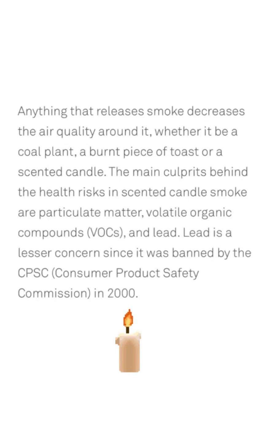 research, air quality, candles