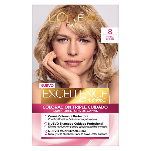 Excellence Creme Color Triple Cuidado 8 Rubio Claro
