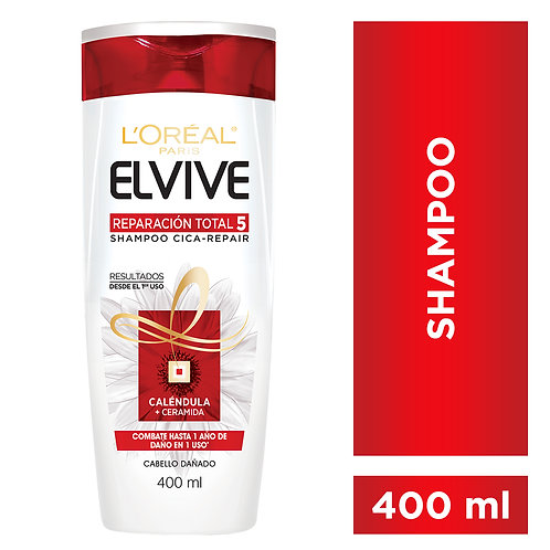Elvive Shampoo Reparacion Total 5 x 400 ml.