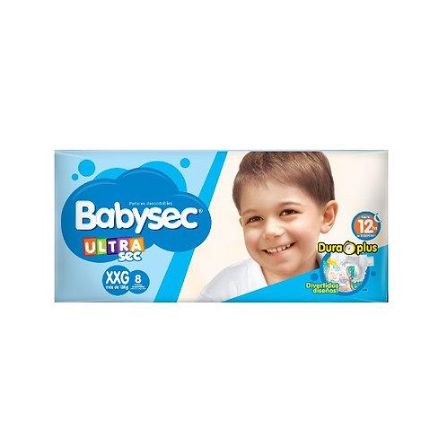Babysec Panales ultra xxg x 8 unid.