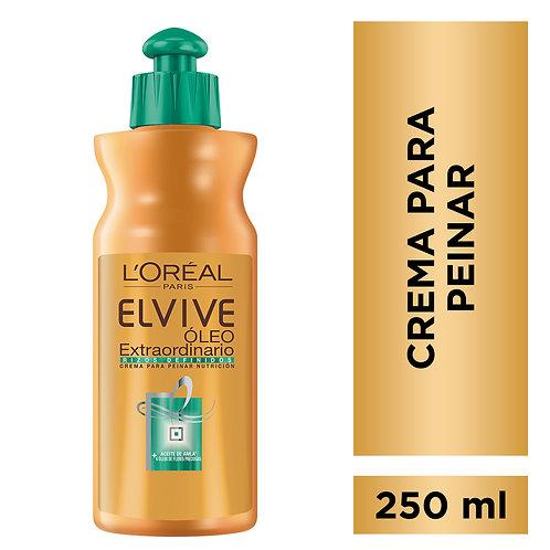 Elvive Crema para Peinar Oleo Extraordinario Rizos Definidos x 250 ml.