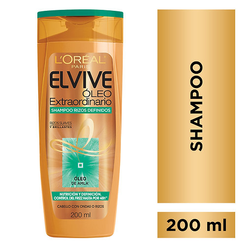 Elvive Shampoo Oleo Extraordinario Rizos Definidos x 200 ml.