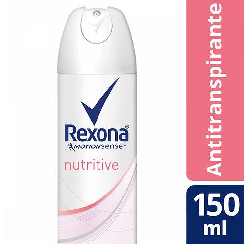 REXONA DESODORANTE AEROSOL ANTI TRANSPIRANTE NUTRITIVE X90G/150ML