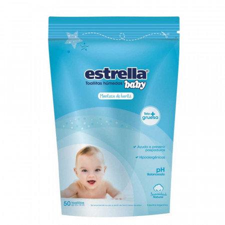 Estrella Baby Tollitas humedas manteca de karite x 50 unid.