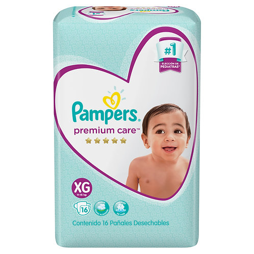 PAMPERS	Panales PREMIUM CARE XG X 16 UNID