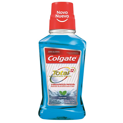 Colgate Enjuague bucal colgate total 12 clean mint 250ml