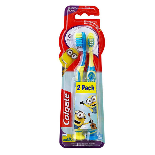 Colgate Cepillo dental smiles minions 2 pack +6 a?os