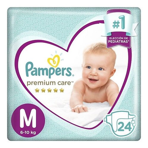 PAMPERS	Panales PREMIUM CARE M X 24 UNID