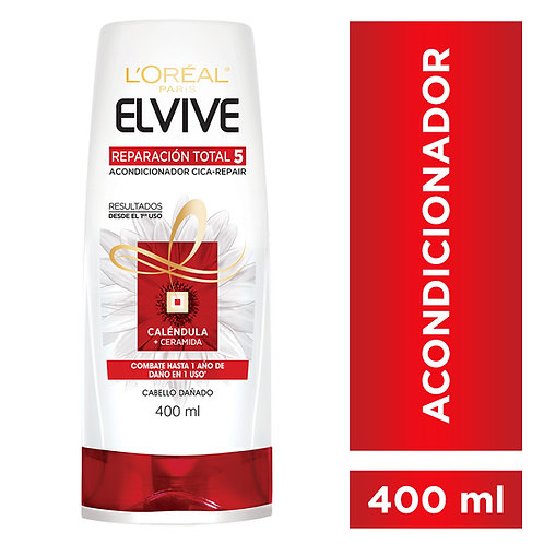 Elvive Acondicionador Reparacion Total 5 x 400 ml.