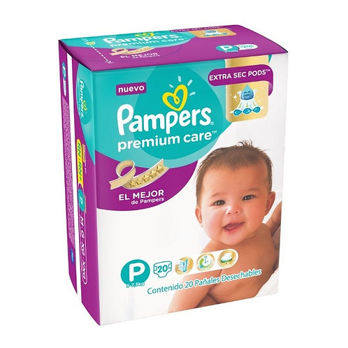 PAMPERS	Panales PREMIUM CARE P X 20 UNID